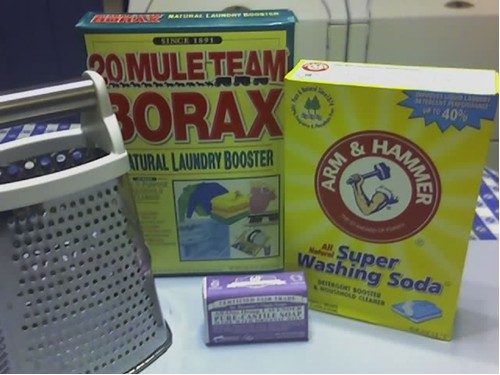 ingredients for homemade laundry soap