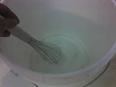 soap making whisking